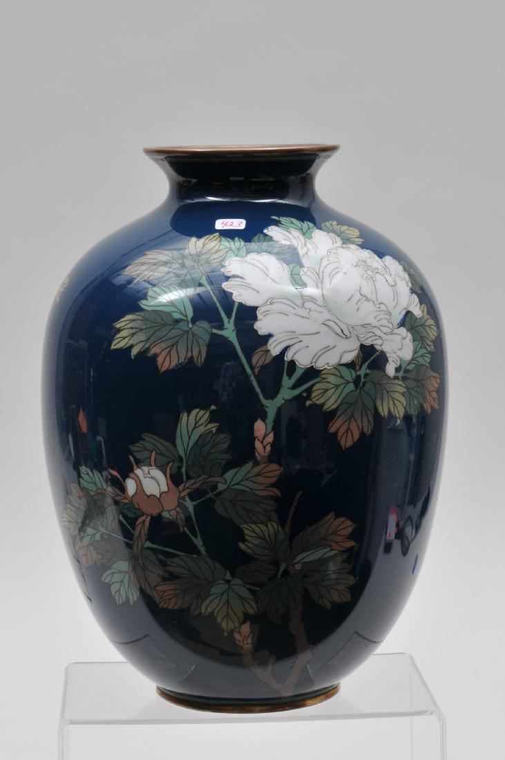 Cloisonné vase. Japan. Meiji period. (1868-1912). - 3