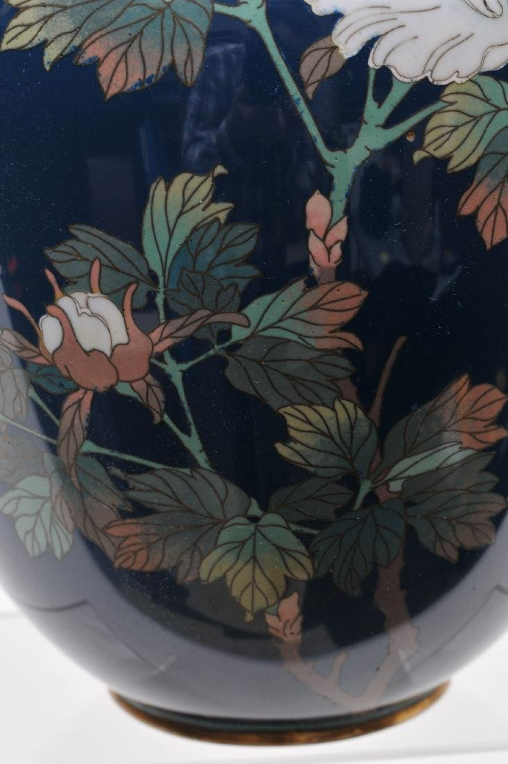 Cloisonné vase. Japan. Meiji period. (1868-1912). - 4