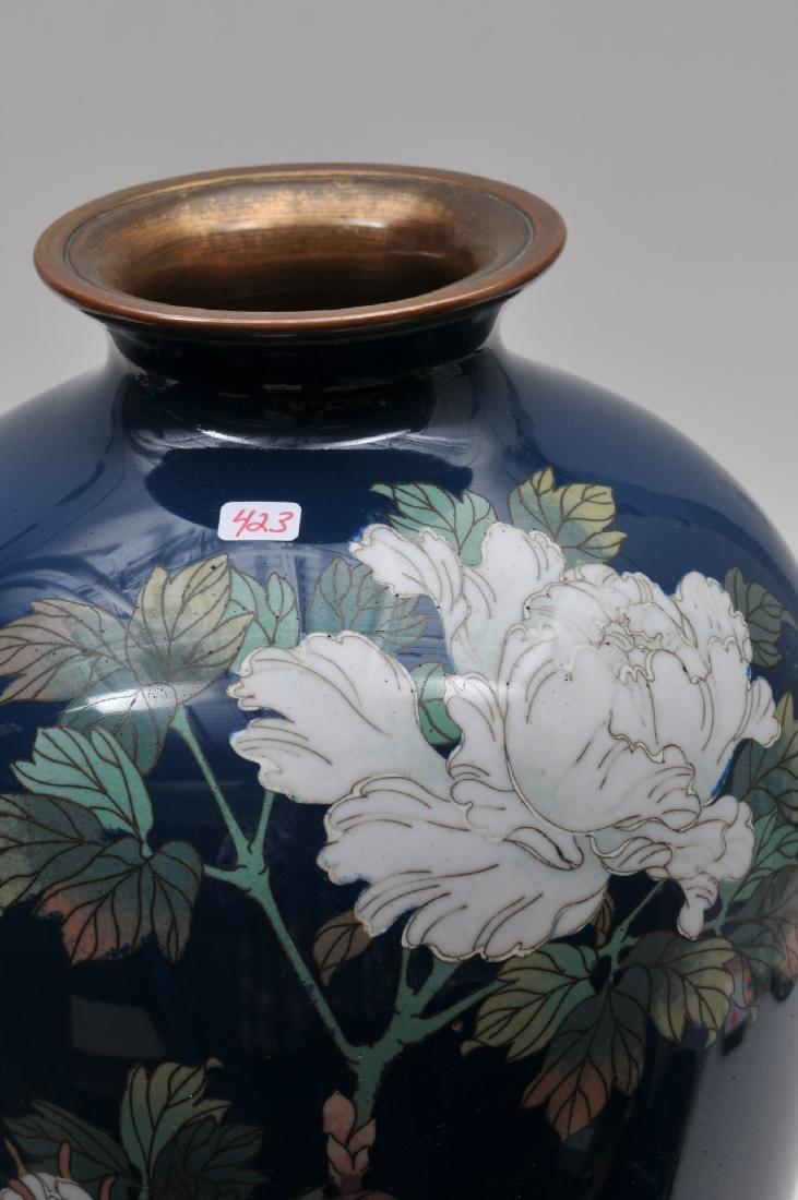 Cloisonné vase. Japan. Meiji period. (1868-1912). - 5