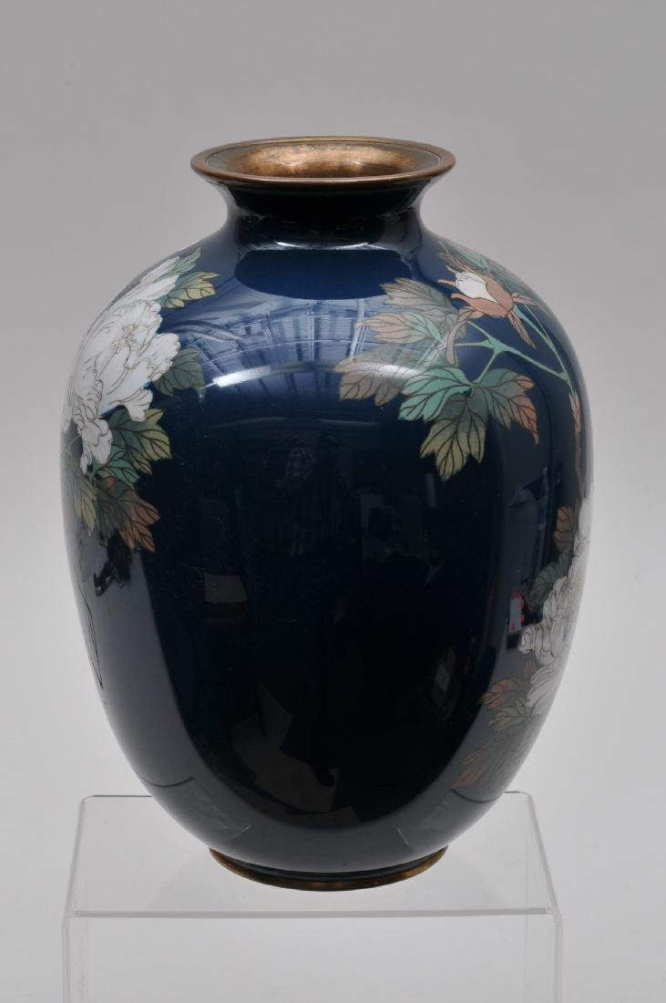 Cloisonné vase. Japan. Meiji period. (1868-1912). - 6