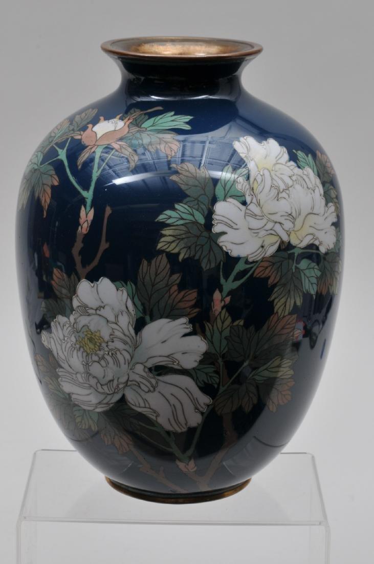 Cloisonné vase. Japan. Meiji period. (1868-1912). - 7