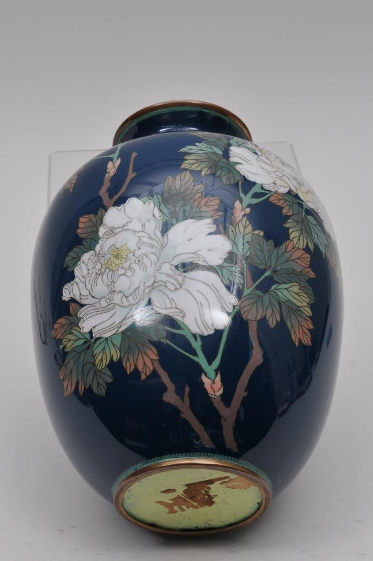 Cloisonné vase. Japan. Meiji period. (1868-1912). - 8