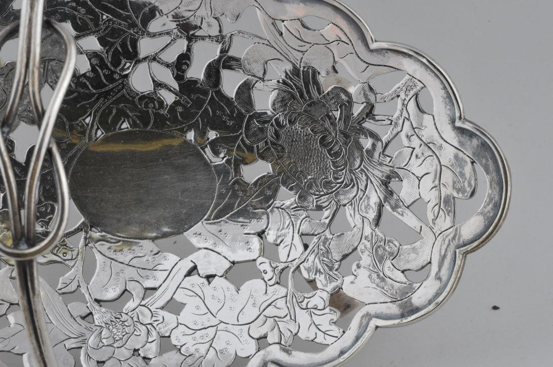 Chinese Export silver handled basket. Early 20th - 3