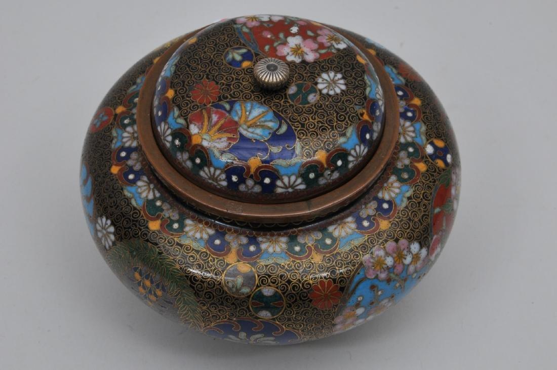 Cloisonné censer. Japan. Meiji period. (1868-1912). - 5