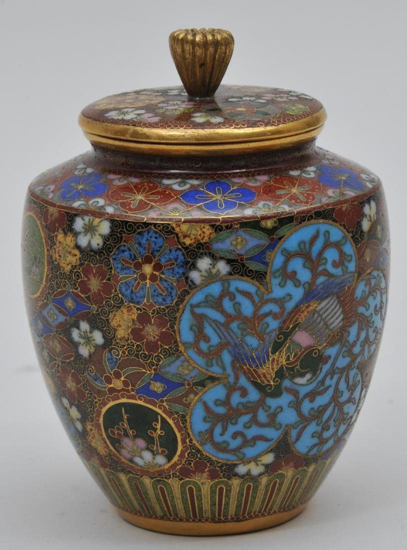 Cloisonné covered jar. Japan. Meiji period. - 2