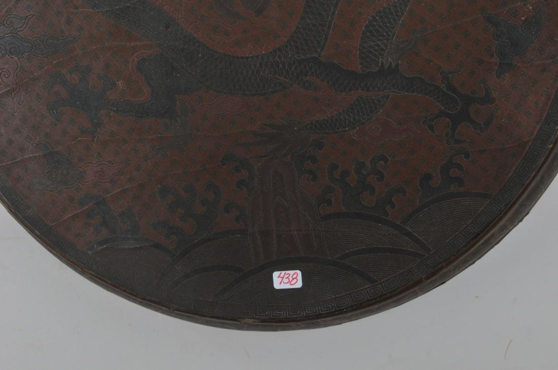 Lacquered box. China. 18th century. Round form. - 6
