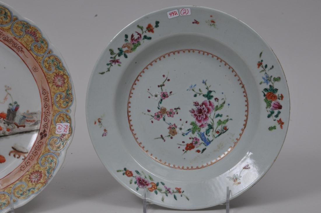Two porcelain plates. Chinese Export ware. Decoration - 2