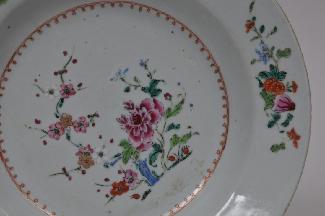 Two porcelain plates. Chinese Export ware. Decoration - 3