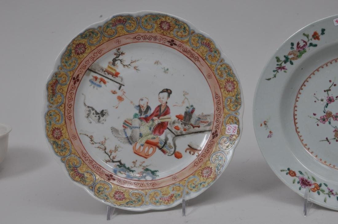 Two porcelain plates. Chinese Export ware. Decoration - 4