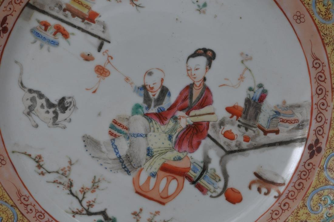 Two porcelain plates. Chinese Export ware. Decoration - 5