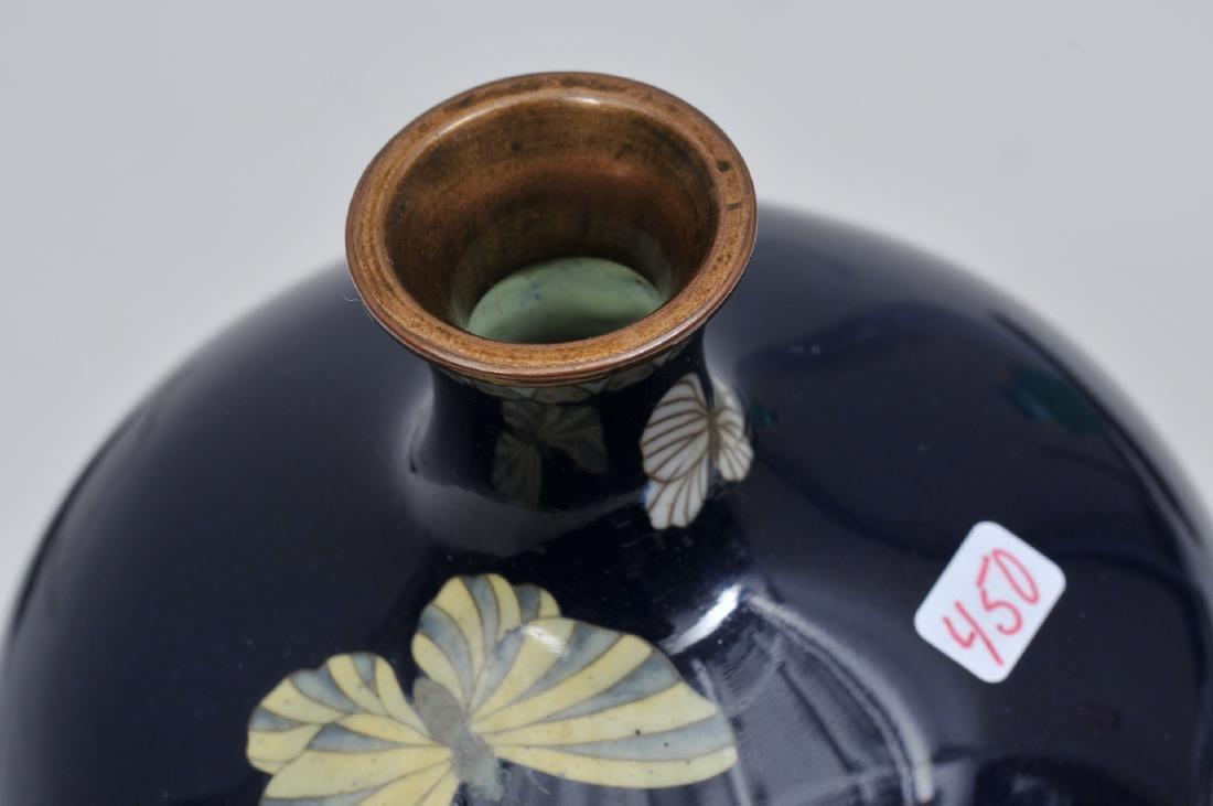 Cloisonné vase. Japan. Meiji period. (18680-1912). - 4