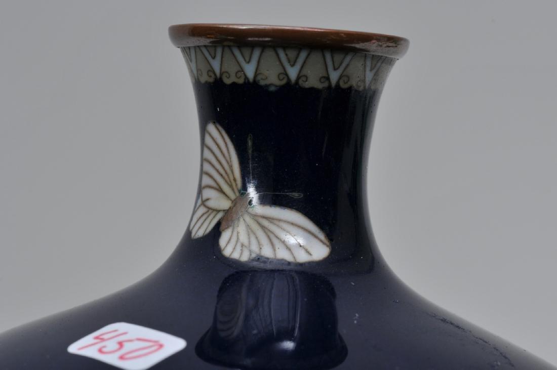 Cloisonné vase. Japan. Meiji period. (18680-1912). - 6