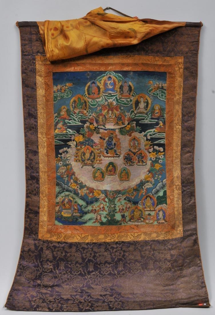 Buddhist painting. Tibet. 20th century. Thangkha of