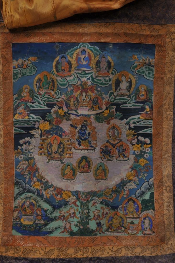 Buddhist painting. Tibet. 20th century. Thangkha of - 2