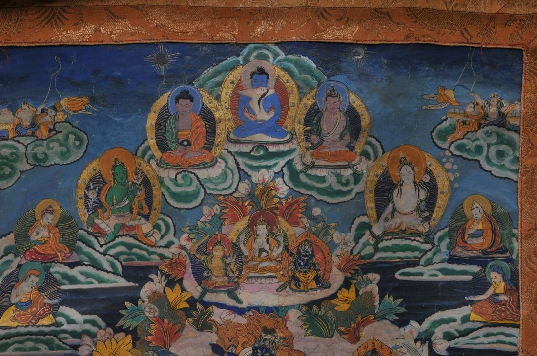 Buddhist painting. Tibet. 20th century. Thangkha of - 3