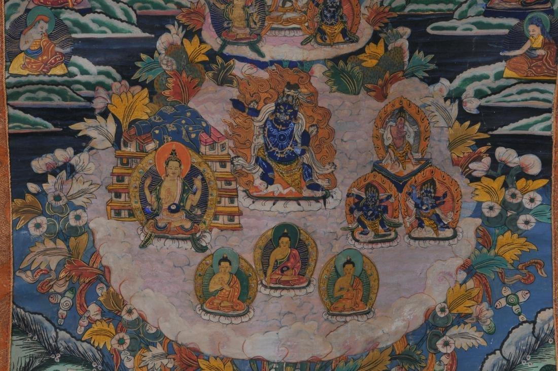 Buddhist painting. Tibet. 20th century. Thangkha of - 4