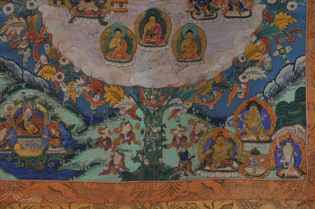 Buddhist painting. Tibet. 20th century. Thangkha of - 5