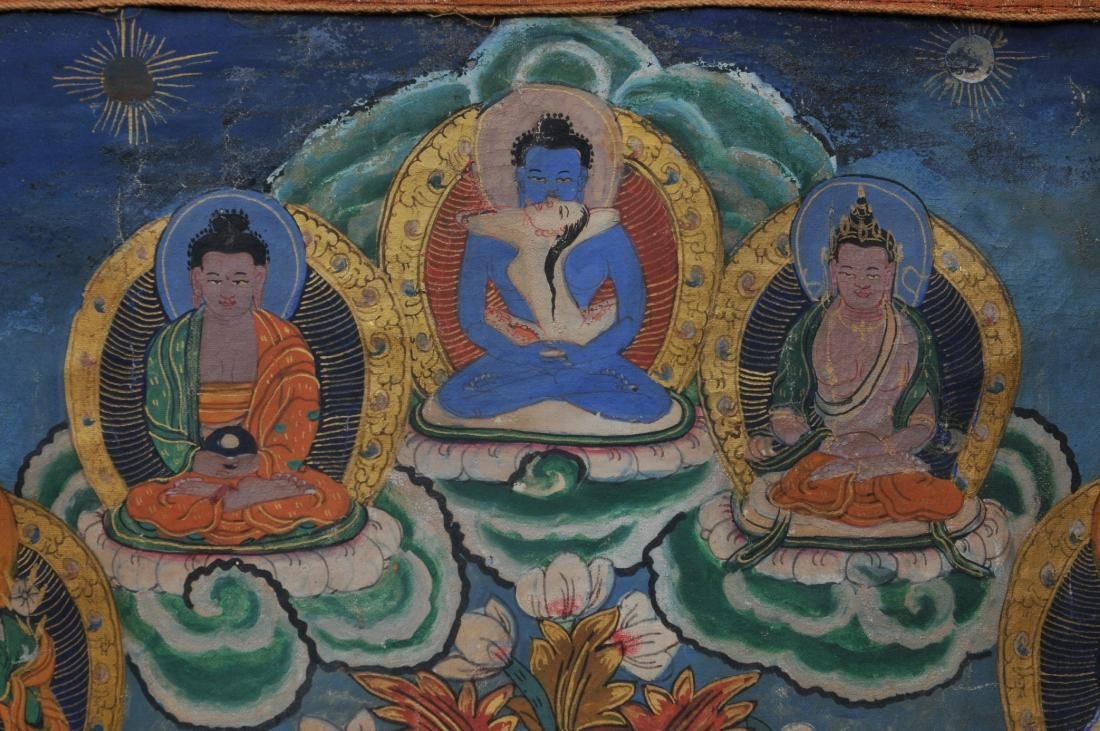 Buddhist painting. Tibet. 20th century. Thangkha of - 6