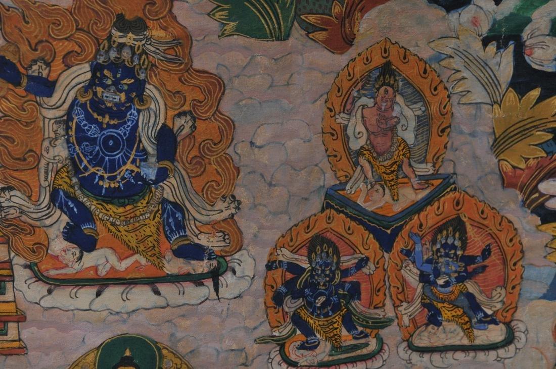 Buddhist painting. Tibet. 20th century. Thangkha of - 7