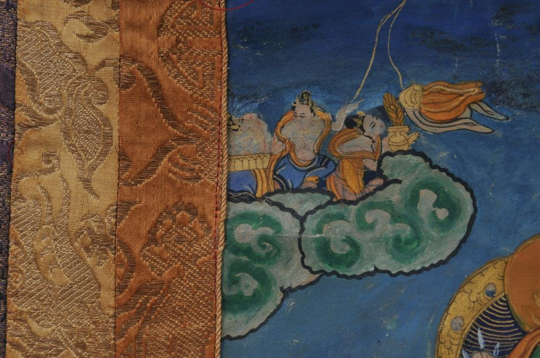 Buddhist painting. Tibet. 20th century. Thangkha of - 8