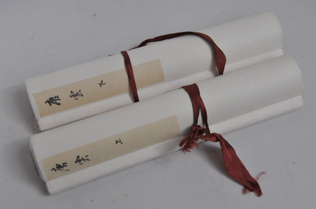 Pair of hanging scrolls. China. 20th century. - 2