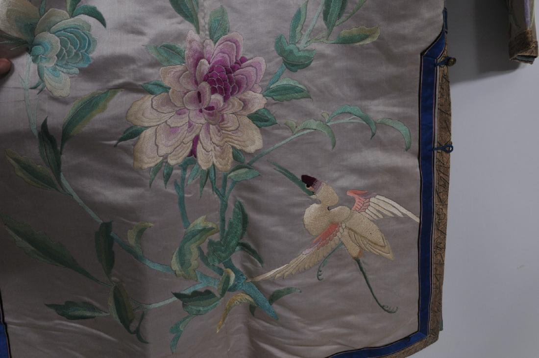 Silk robe. China. Early 20th century. Embroidery of - 10
