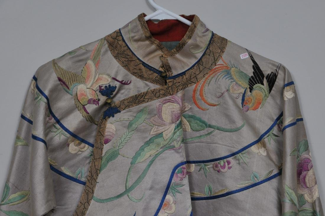 Silk robe. China. Early 20th century. Embroidery of - 2