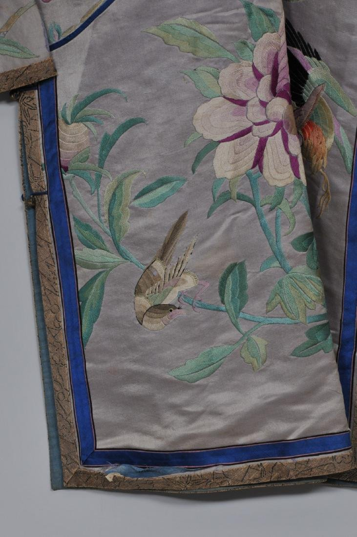 Silk robe. China. Early 20th century. Embroidery of - 3