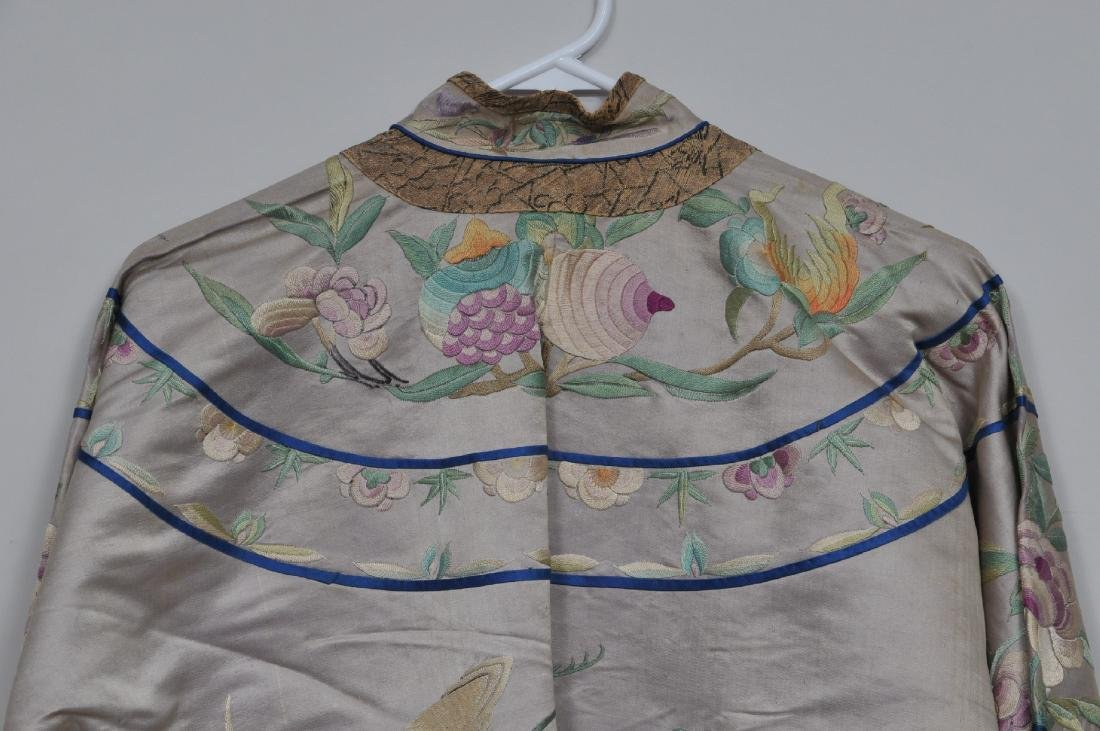 Silk robe. China. Early 20th century. Embroidery of - 8
