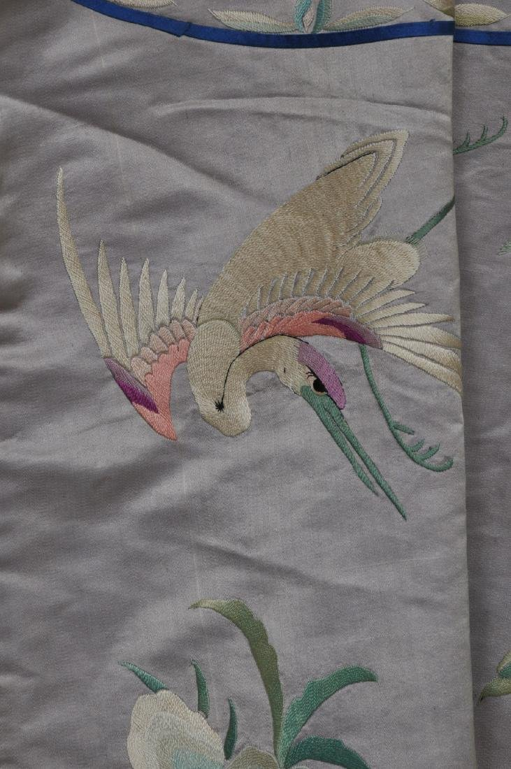 Silk robe. China. Early 20th century. Embroidery of - 9