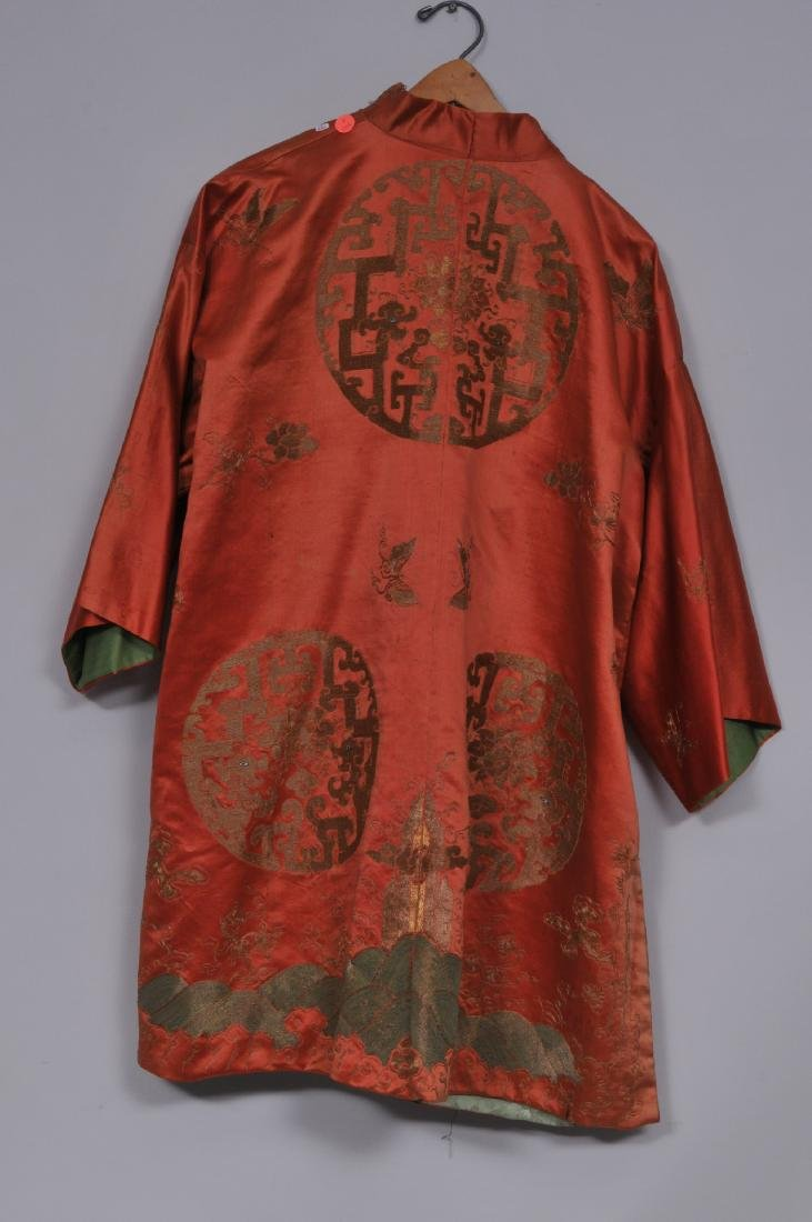 Silk robe. China. 19th century. Gold embroidery of - 7