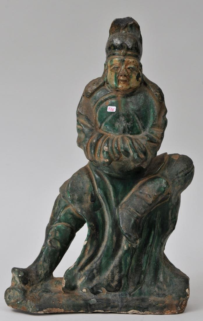 Pottery figure. China. Ming period (1368-1644). San
