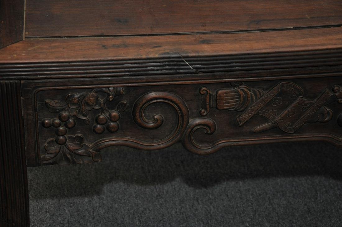 Rosewood couch. China. 19th century. Surfaces carved - 3