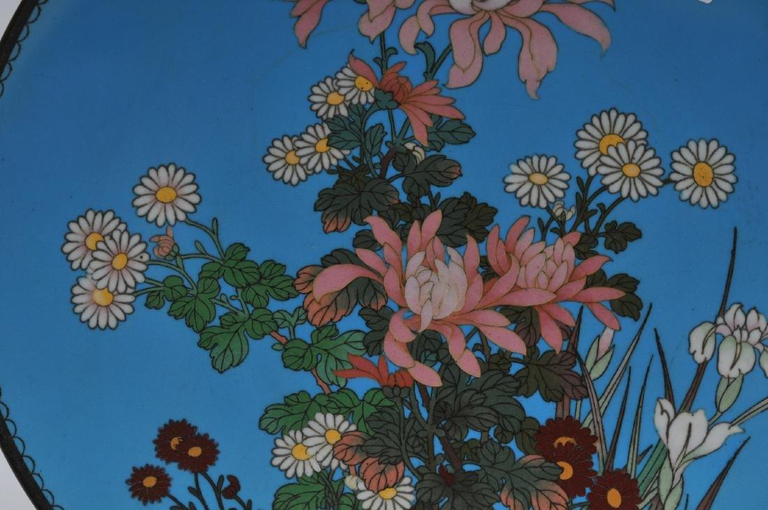 Cloisonné plate. Japan. Meiji period. (1868-1912). - 2