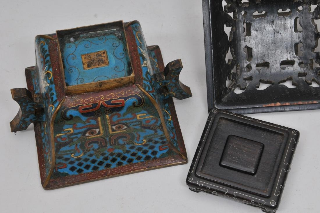 Cloisonné Censer. China. Ch'ien Lung mark (1735-1796) - 10