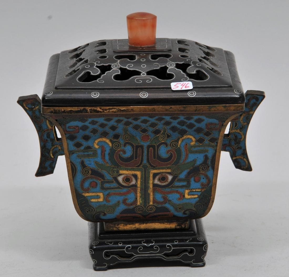 Cloisonné Censer. China. Ch'ien Lung mark (1735-1796)