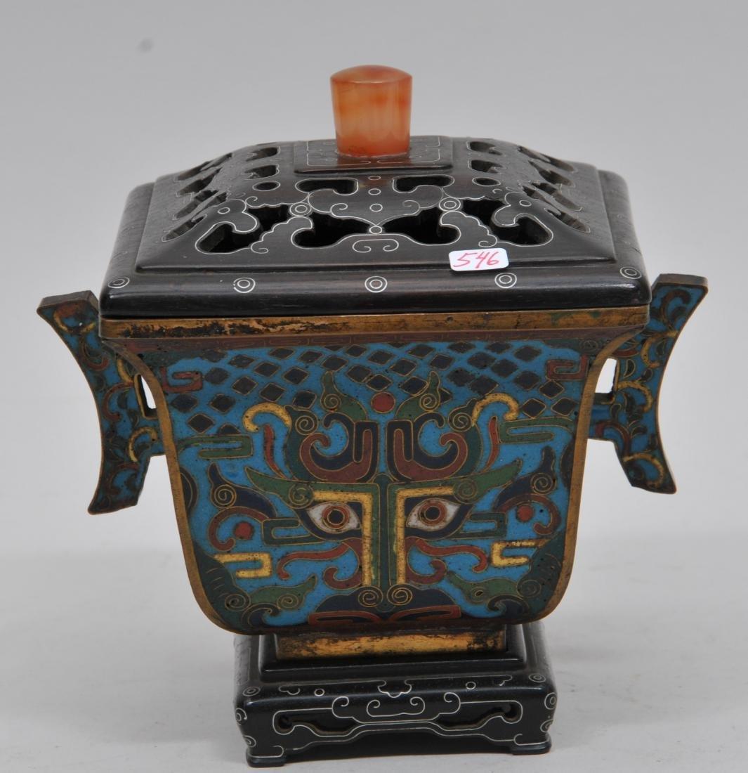 Cloisonné Censer. China. Ch'ien Lung mark (1735-1796) - 2
