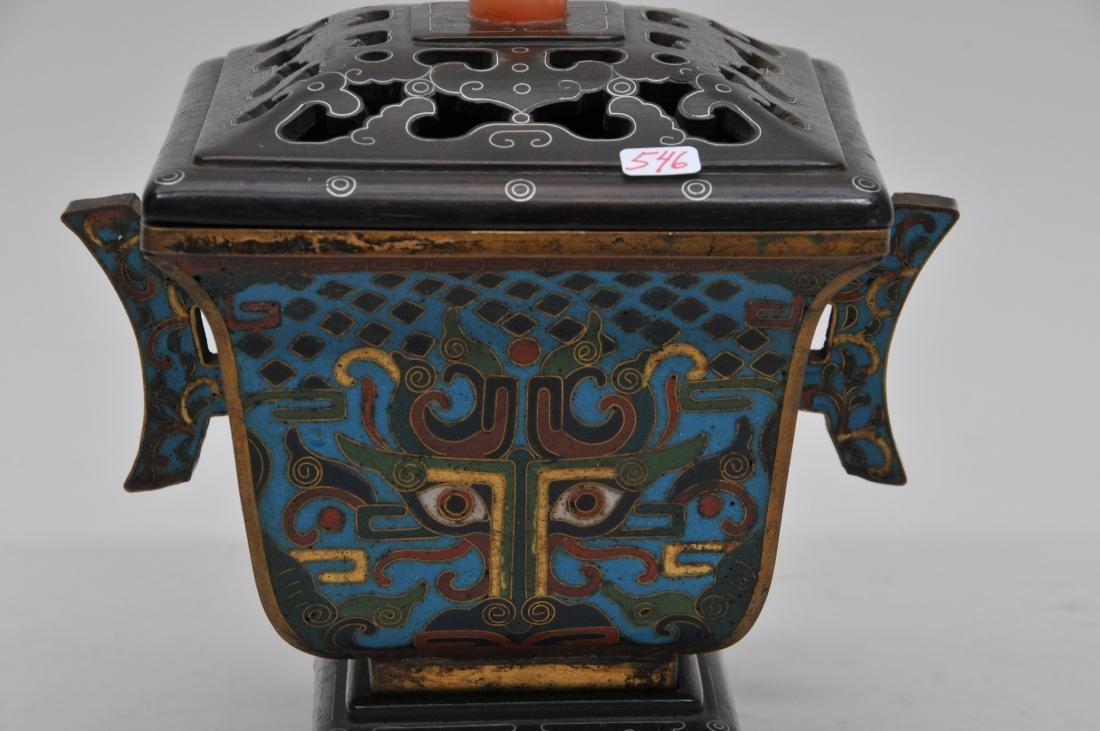 Cloisonné Censer. China. Ch'ien Lung mark (1735-1796) - 3