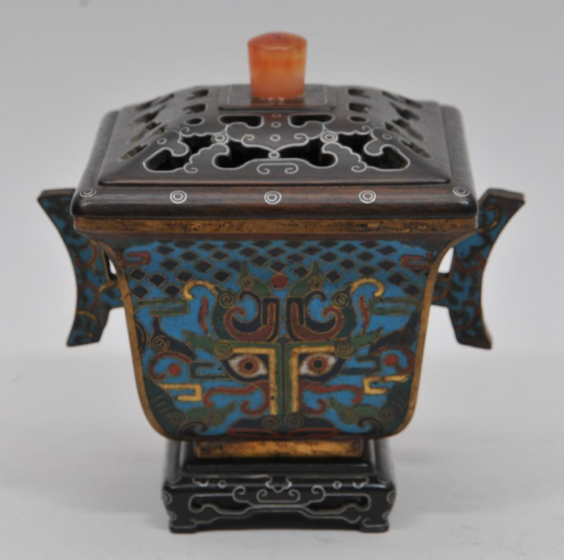 Cloisonné Censer. China. Ch'ien Lung mark (1735-1796) - 5