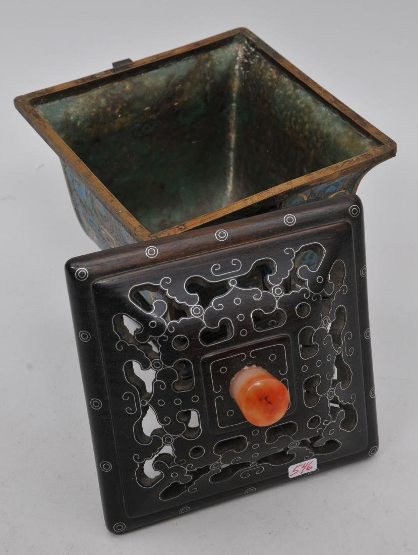 Cloisonné Censer. China. Ch'ien Lung mark (1735-1796) - 7