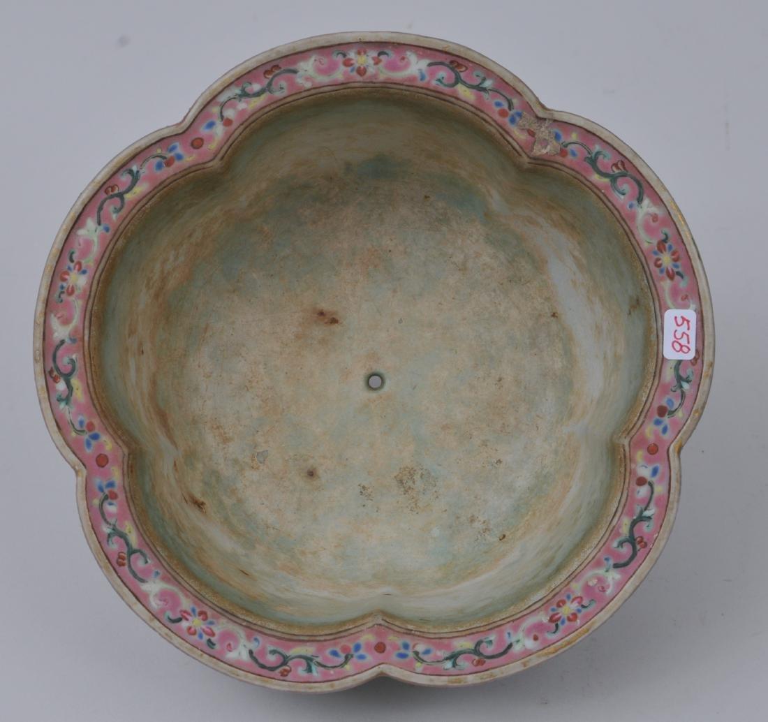 Porcelain jardinière. China. 19th century. Lobated - 3