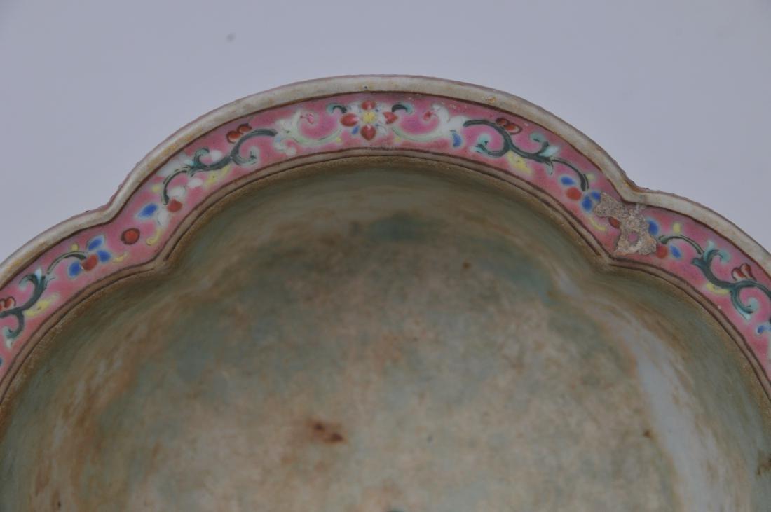 Porcelain jardinière. China. 19th century. Lobated - 4