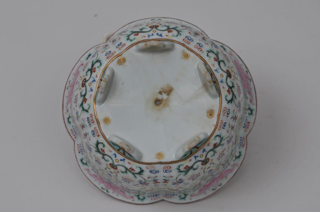 Porcelain jardinière. China. 19th century. Lobated - 5