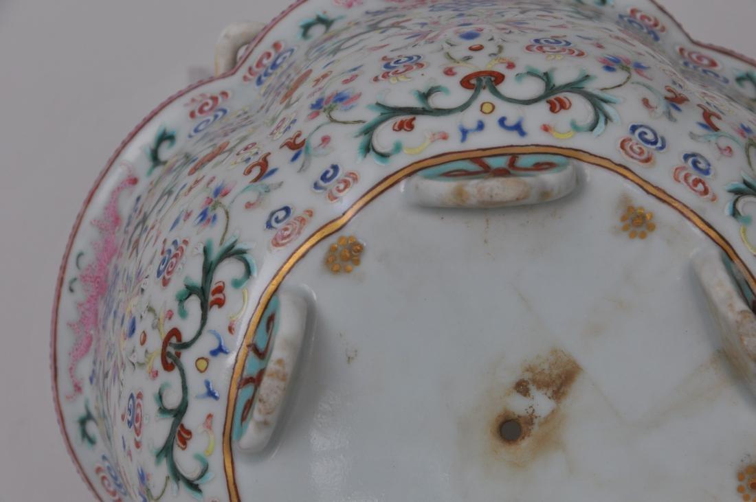 Porcelain jardinière. China. 19th century. Lobated - 6