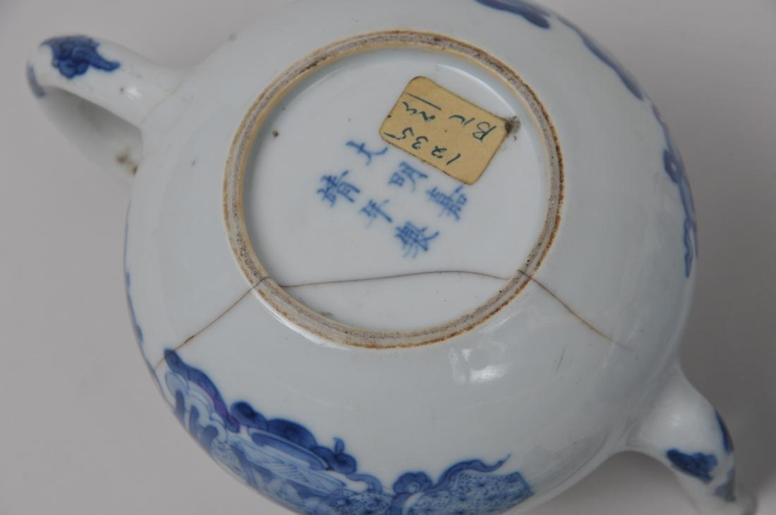 Two porcelain teapots. China. 19th century. Underglaze - 10