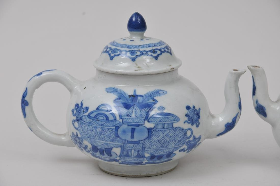 Two porcelain teapots. China. 19th century. Underglaze - 2