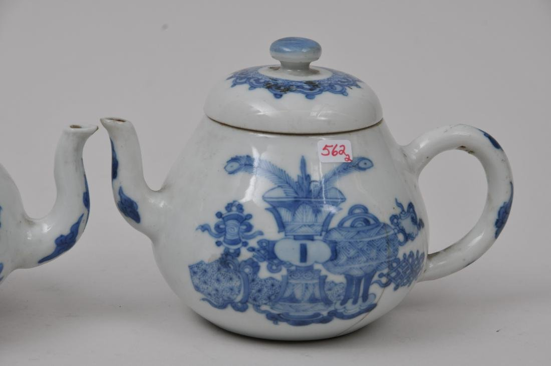 Two porcelain teapots. China. 19th century. Underglaze - 5