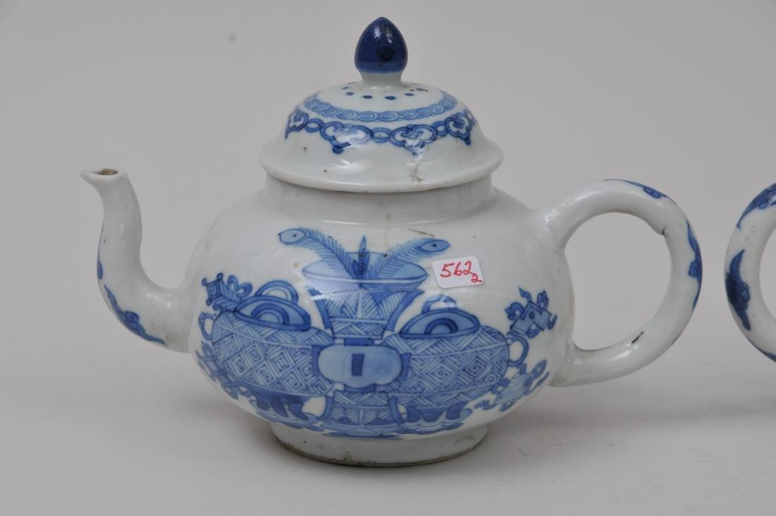 Two porcelain teapots. China. 19th century. Underglaze - 6