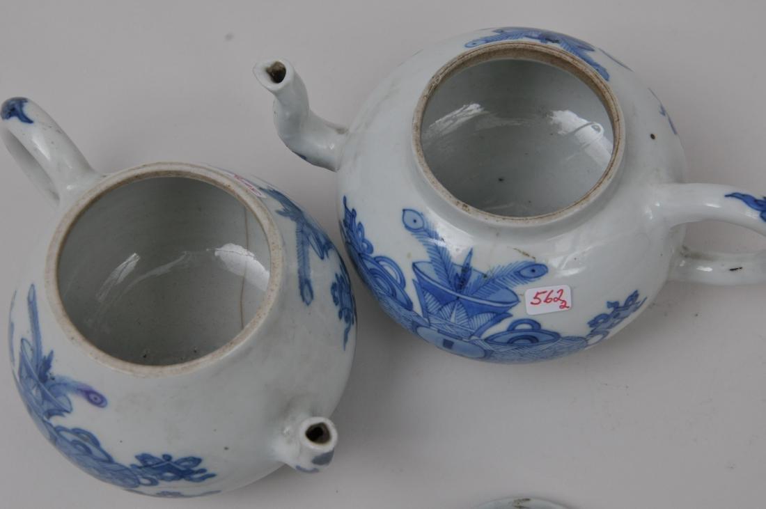 Two porcelain teapots. China. 19th century. Underglaze - 8