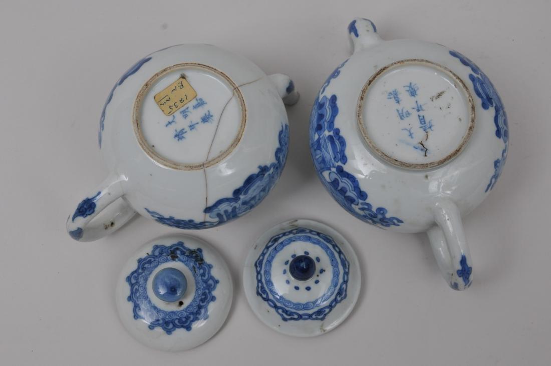 Two porcelain teapots. China. 19th century. Underglaze - 9